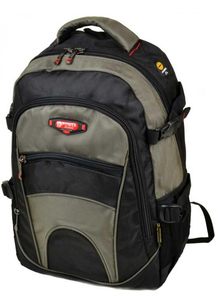 Черно-зеленый городской рюкзак 9609 green