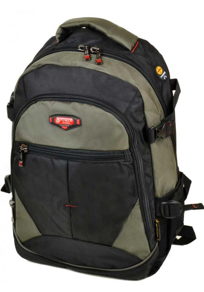 Черно-зеленый городской рюкзак 9612 green