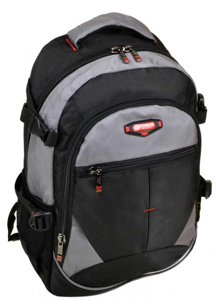 Черно-серый городской рюкзак 9612 grey