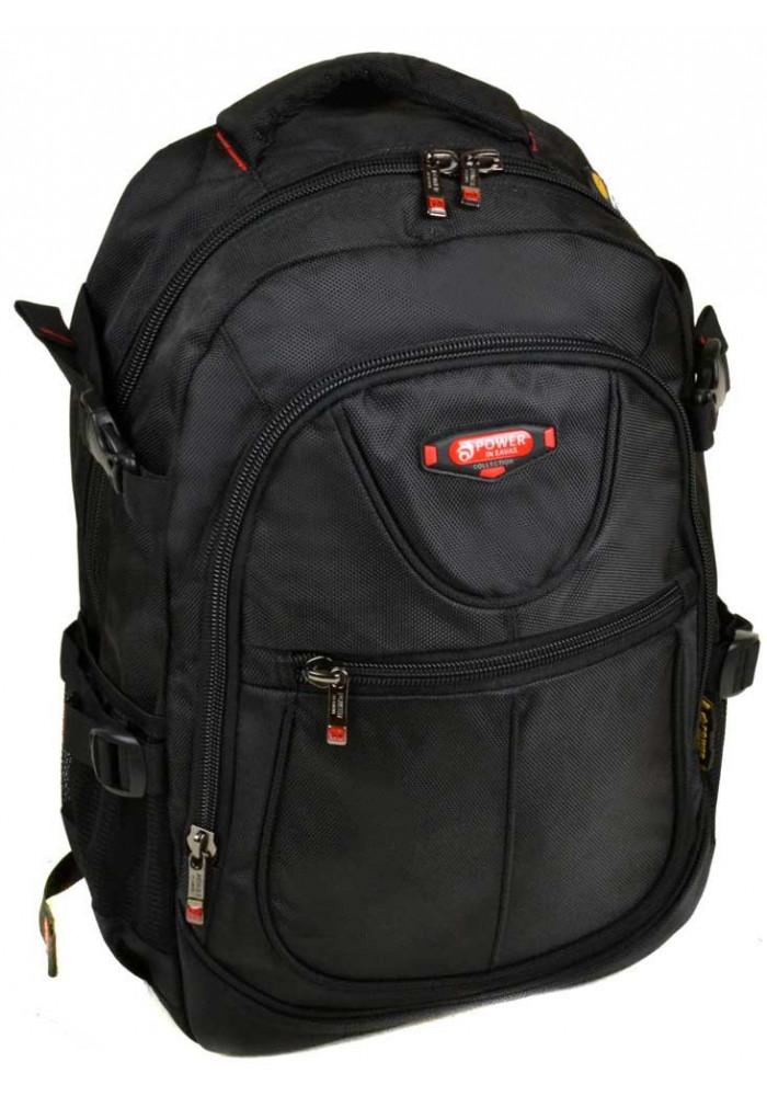 Черный городской рюкзак 9602 black