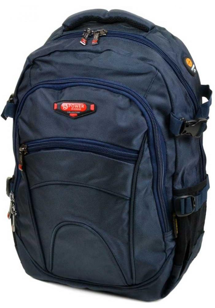 Синий городской рюкзак 9609 blue