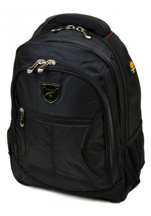 Однотонный городской рюкзак 5228 black