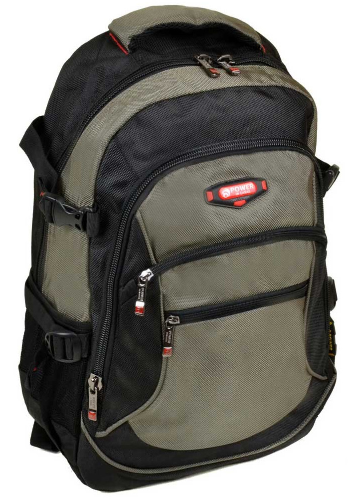 Зеленый городской рюкзак с двумя карманами 9617 green