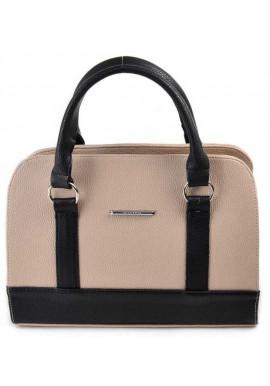 Фото Бежево-черная женская сумка Камелия М59-66-47
