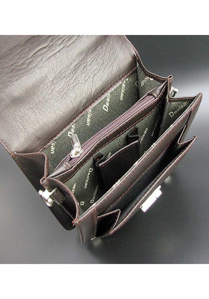 2c46ea2a45fd ... Вертикальная коричневая мужская барсетка Desisan 244-1, фото №3 -  интернет магазин stunner