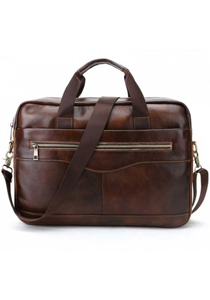 Коричневый кожаный мужской портфель Bexhill 9029