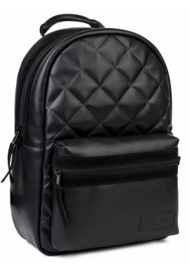 """Фото Черный стеганый рюкзак BBAG """"FLUFFY"""" BASIC BLACK"""