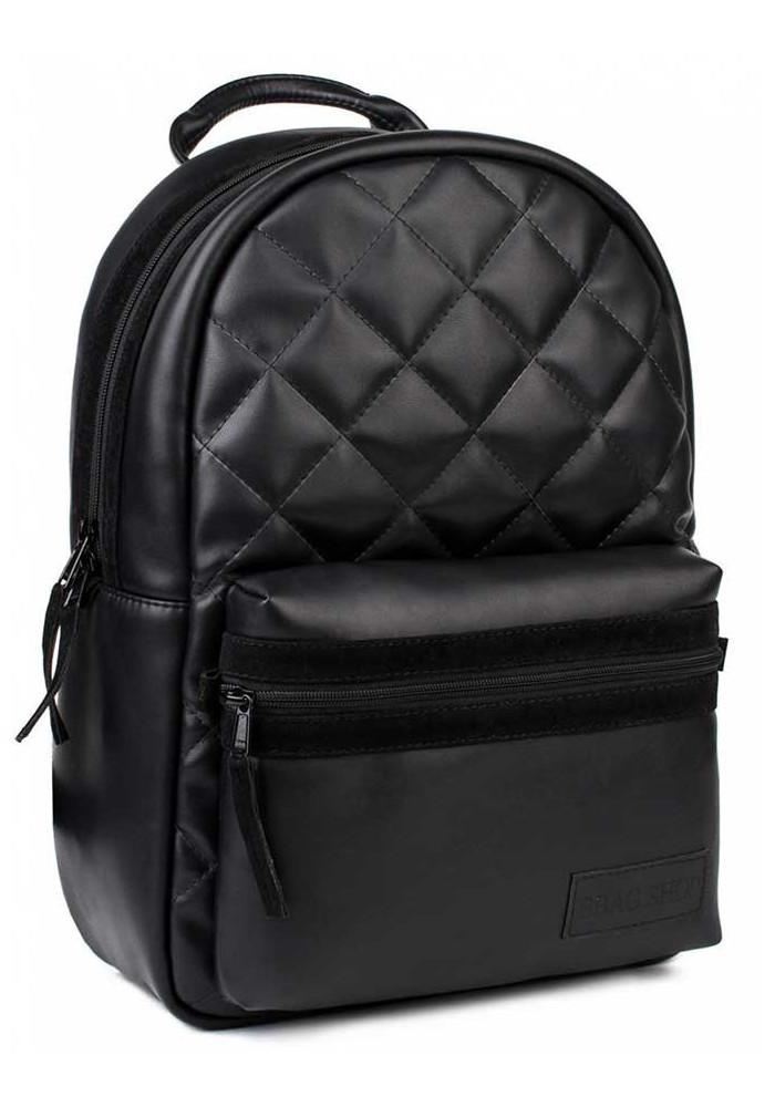 """Черный стеганый рюкзак BBAG """"FLUFFY"""" BASIC BLACK"""