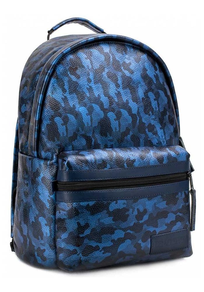 """Кожаный рюкзак BBAG """"CRISP"""" BASIC DARK BLUE"""