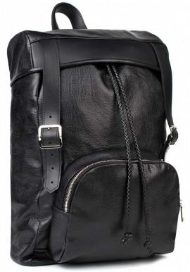 Фото Мужской кожаный рюкзак BBAG BATTLER BLACK