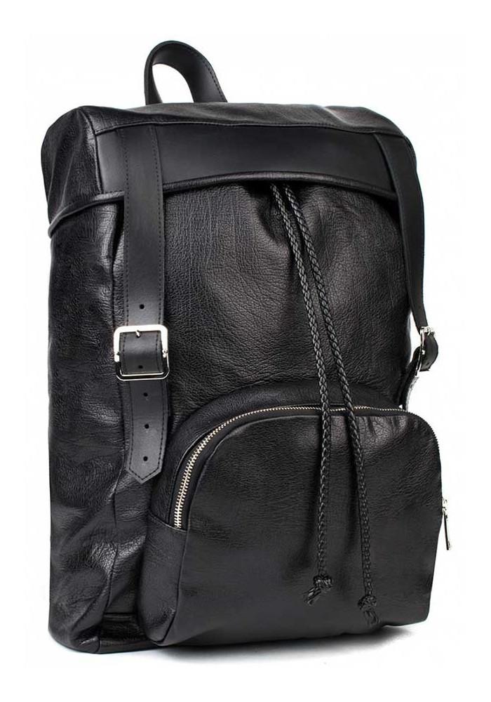 Мужской кожаный рюкзак BBAG BATTLER BLACK
