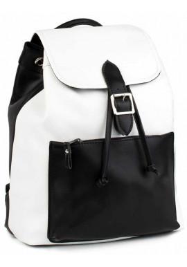 Фото Бело-черный женский рюкзак BBAG REBEL BLACKWHITE