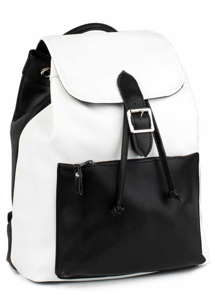Бело-черный женский рюкзак BBAG REBEL BLACKWHITE