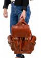 Кожаный мужской рюкзак BBAG GLORY ORANGE, фото №4 - интернет магазин stunner.com.ua