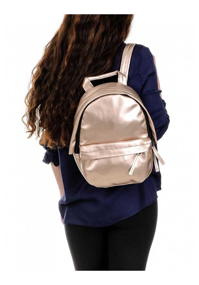 c2a362f2e720 ... Женский золотой рюкзак BBAG CAPSULE MINI ROSE GOLD, фото №3 - интернет  магазин stunner ...