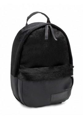 Фото Черный женский рюкзак из меха BBAG CAPSULE MINI CRAZY HORSE PIXEL