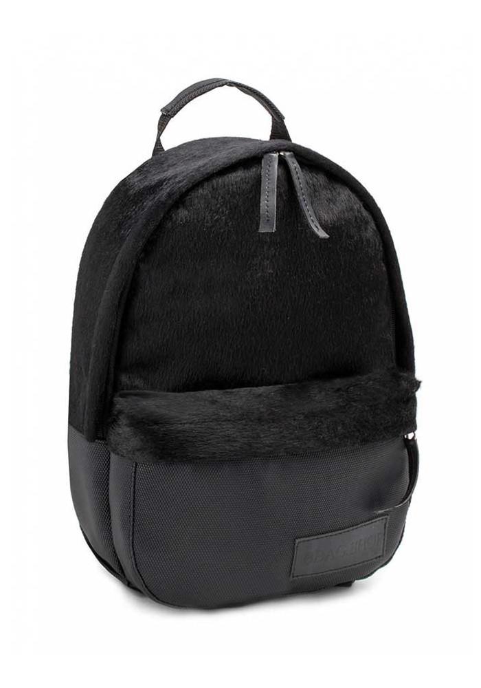 Черный женский рюкзак из меха BBAG CAPSULE MINI CRAZY HORSE PIXEL