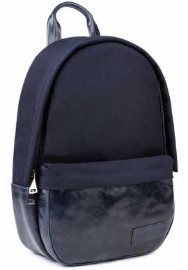 Фото Синий рюкзак из нейлона и кожи BBAG CAPSULE BASIC NAVY