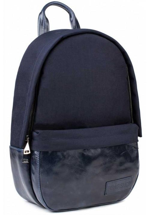 Синий рюкзак из нейлона и кожи BBAG CAPSULE BASIC NAVY