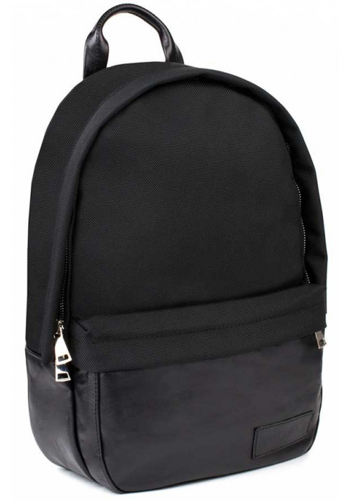 Черный рюкзак из нейлона и кожи BBAG CAPSULE BASIC BLACK