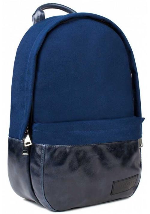 Синий рюкзак из нейлона и кожи BBAG CAPSULE BASIC BLUE