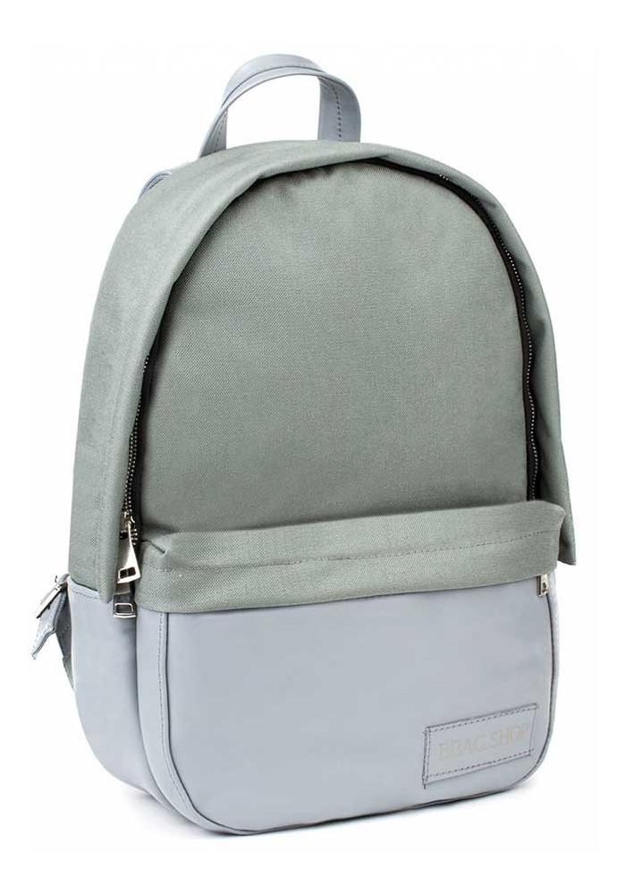 Серый рюкзак из нейлона и кожи BBAG CAPSULE BASIC GREY