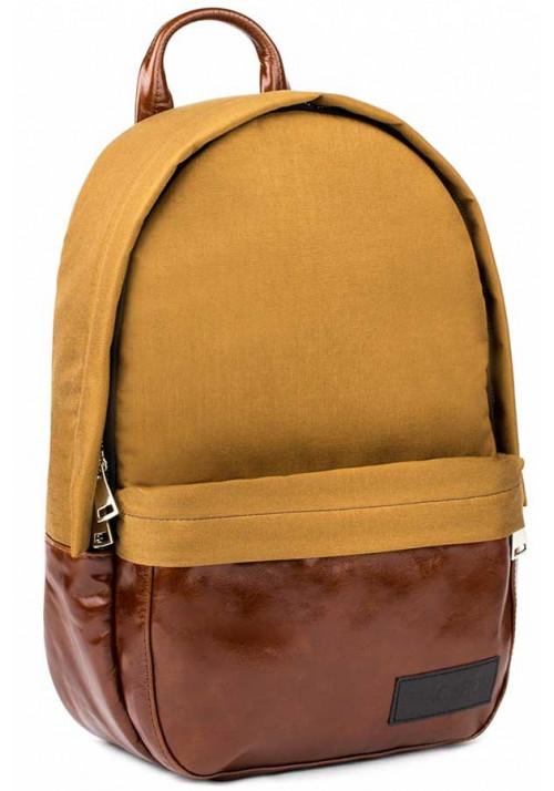 Желто-коричневый рюкзак BBAG CAPSULE BASIC BRONZE