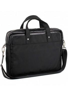 Фото Черная деловая сумка из кордура и кожи BBAG BRONX BLACK