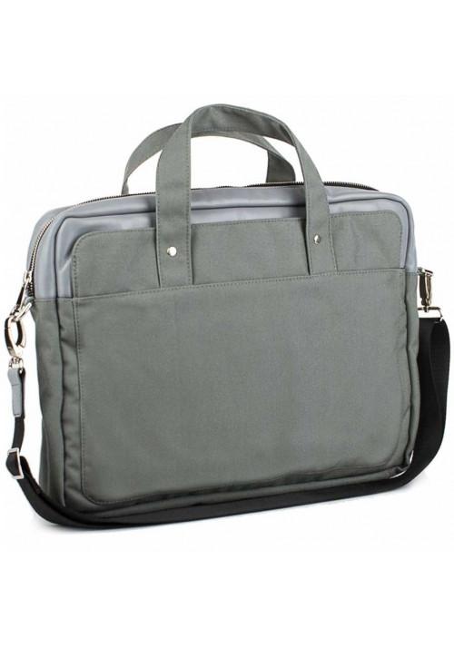 Серая деловая сумка из кордура и кожи BBAG BRONX GREY