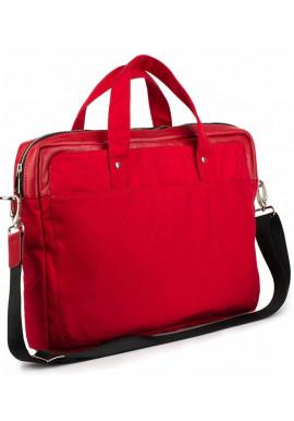 Фото Красная деловая сумка из кордура и кожи BBAG BRONX RED