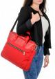 Красная деловая сумка из кордура и кожи BBAG BRONX RED
