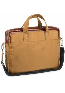 Фото Желто-коричневая деловая сумка из кордура и кожи BBAG BRONX RED