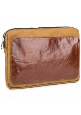Фото Желто-коричневый чехол для ноутбука BBAG MANHATTAN BRONZE