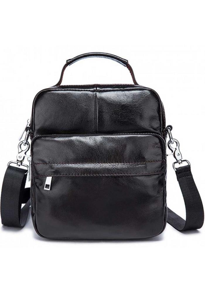 Глянцевая мужская сумка через плечо S774