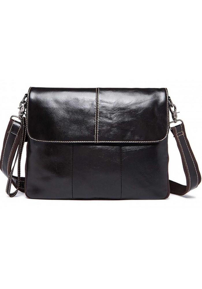Кожаная мужская сумка-почтальон S773