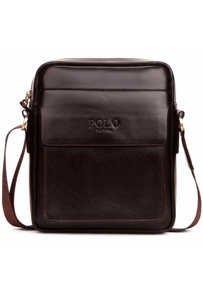 Коричневая мужская сумка через плечо Polo Fanke Brown
