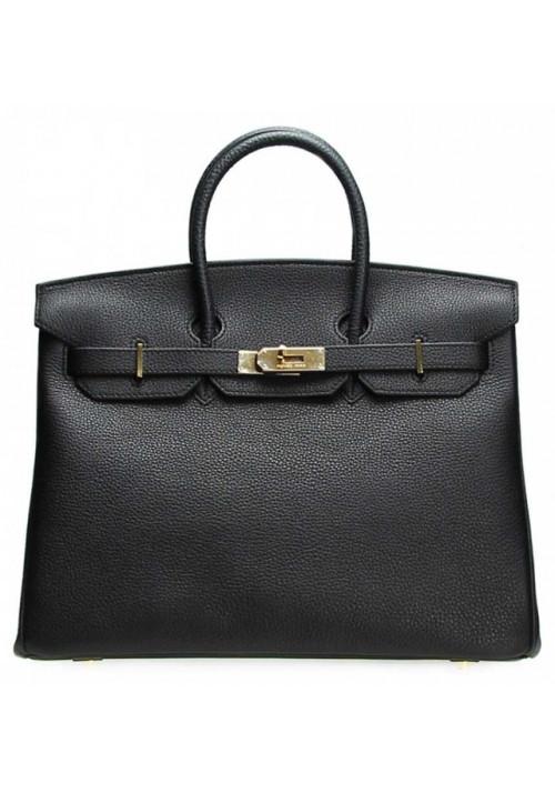 Кожаная женская сумка HB Black