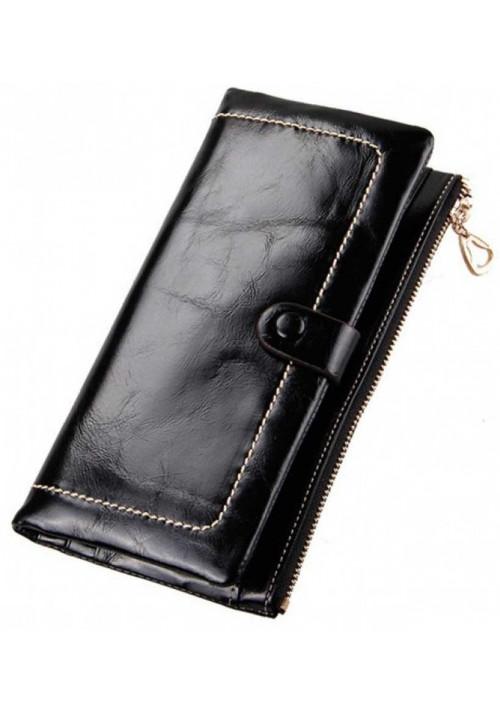 Кожаный женский кошелек Ashley Black