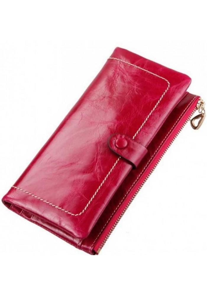 Кожаный женский кошелек Ashley Crimson