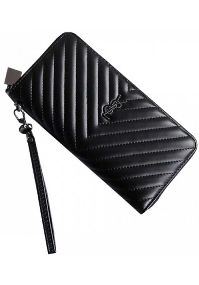 Женский кошелек с ремешком YSL Black
