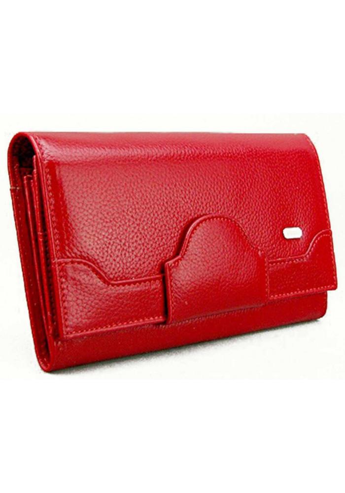 Красный кожаный женский кошелек Desisan