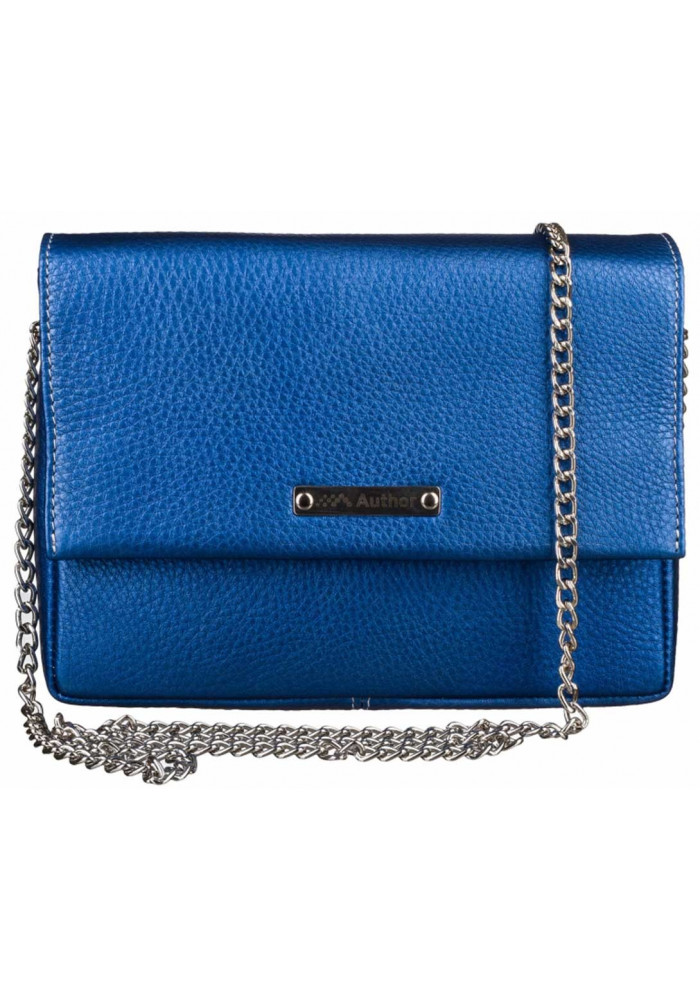 Женская сумочка-клатч Лора синий перламутр
