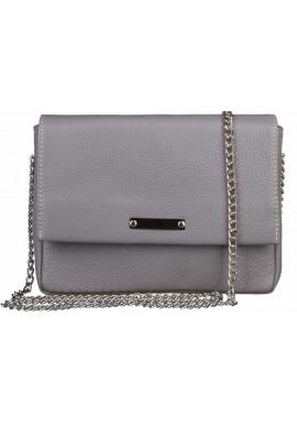 Фото Женская сумочка-клатч Лора стальная