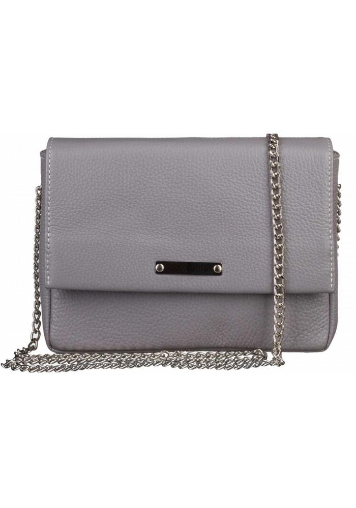 Женская сумочка-клатч Лора стальная