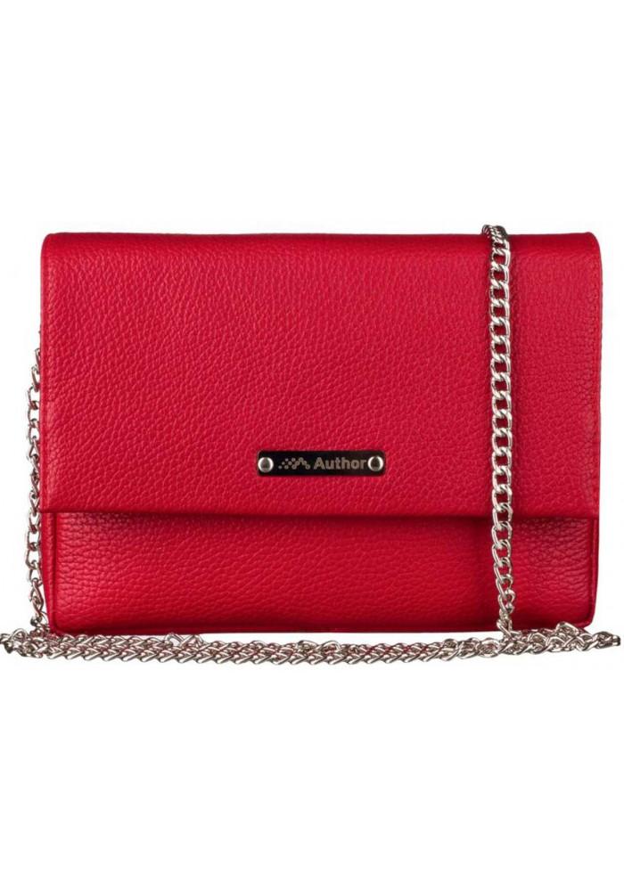 Женская сумочка-клатч Лора красная