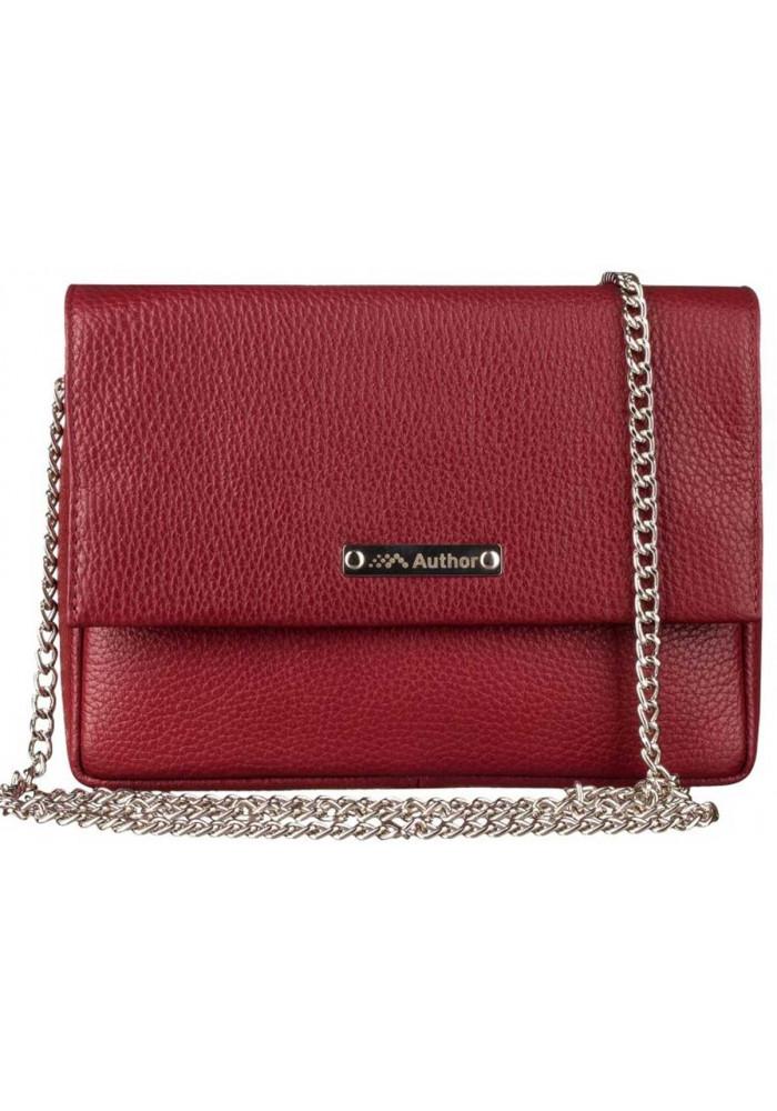 Женская сумочка-клатч Лора бордовая