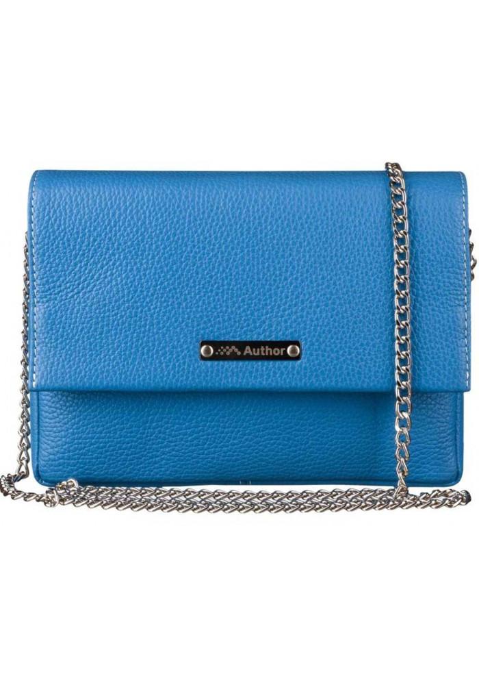 Женская сумочка-клатч Лора голубая