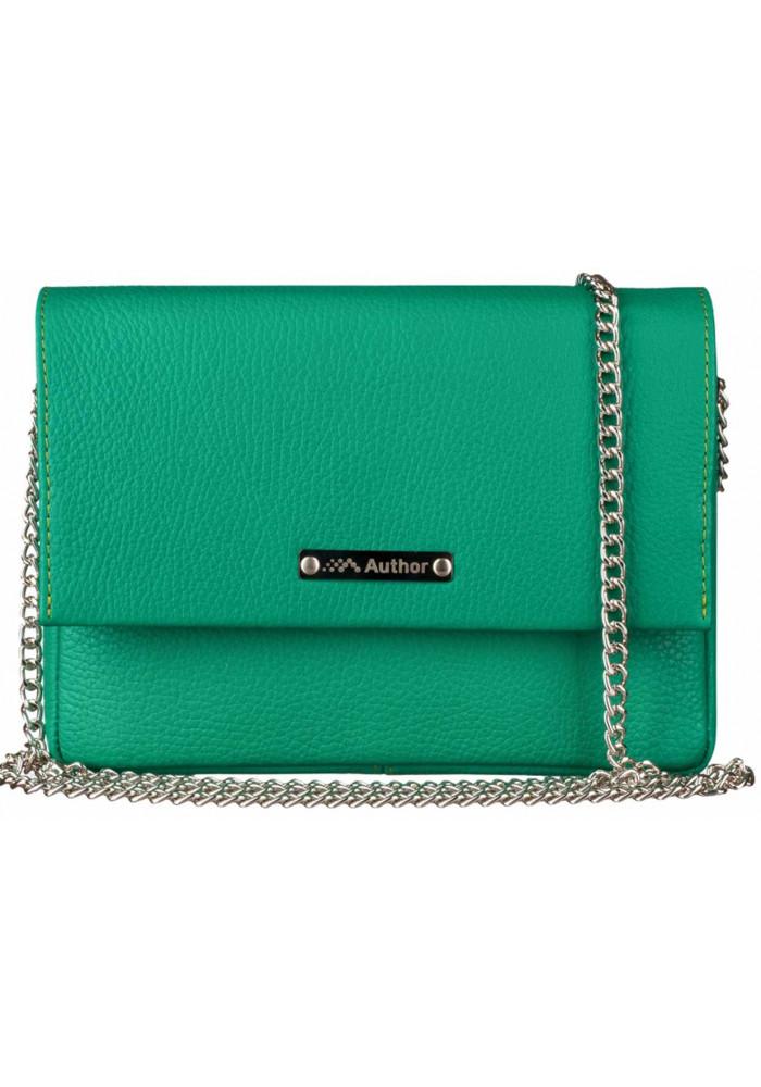 Женская сумочка-клатч Лора зеленая