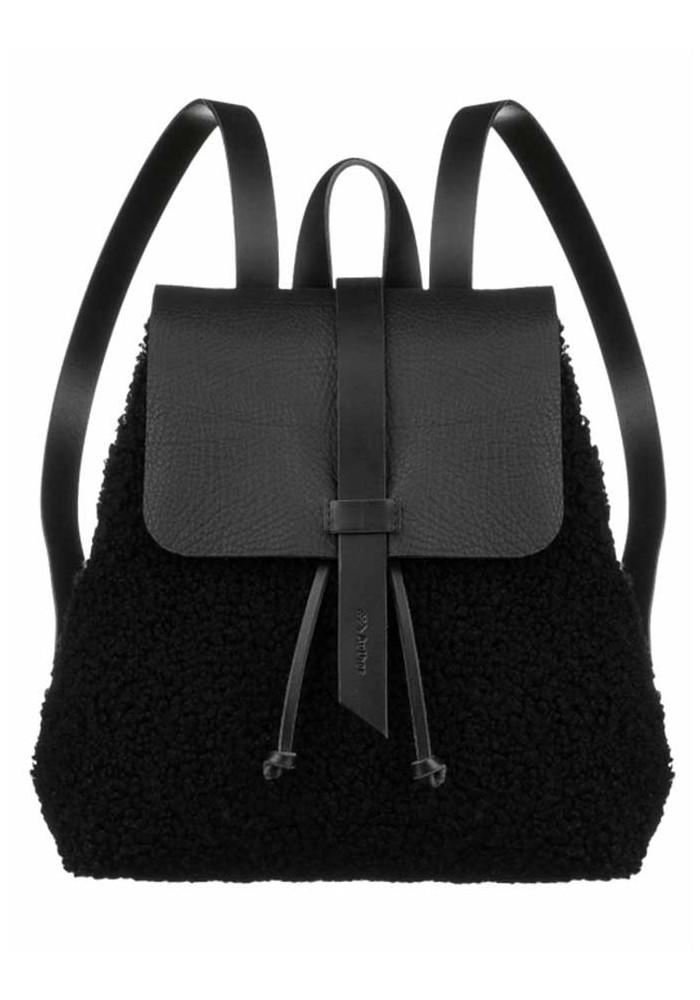 Женский меховой рюкзак Глория черный