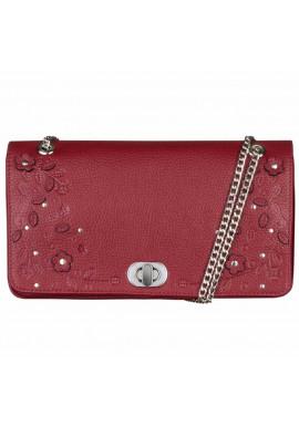 Фото Женская сумочка-клатч Линда бордовая